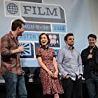 Ron Livingston, Olivia Wilde, Joe Swanberg, and Jake Johnson at an event for Drinking Buddies (2013)