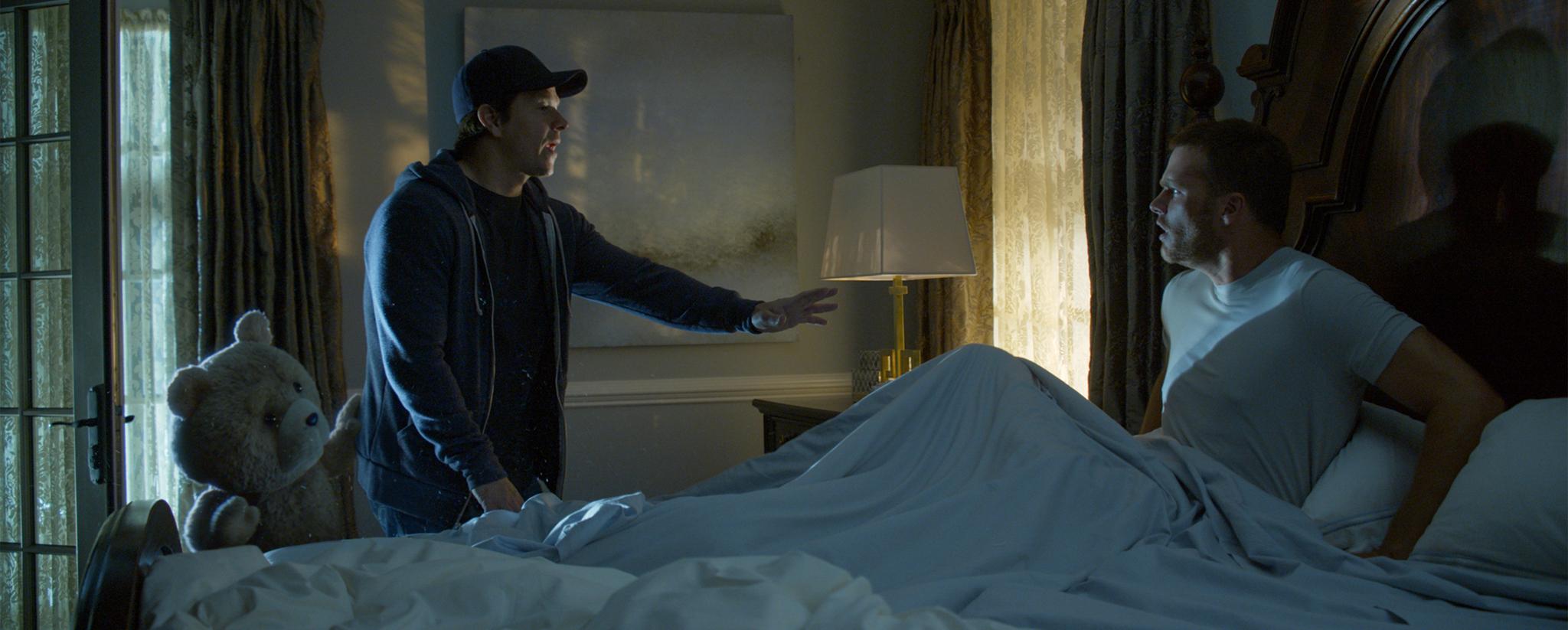 Mark Wahlberg, Seth MacFarlane, and Tom Brady in Ted 2 (2015)