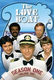 Fred Grandy, Bernie Kopell, Ted Lange, Gavin MacLeod, and Lauren Tewes in The Love Boat (1977)