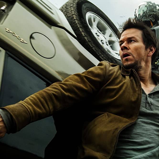 Mark Wahlberg and Mark Ryan in Transformers: Age of Extinction (2014)