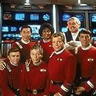 Walter Koenig, Leonard Nimoy, William Shatner, James Doohan, DeForest Kelley, George Takei, and Nichelle Nichols in Star Trek VI: The Undiscovered Country (1991)
