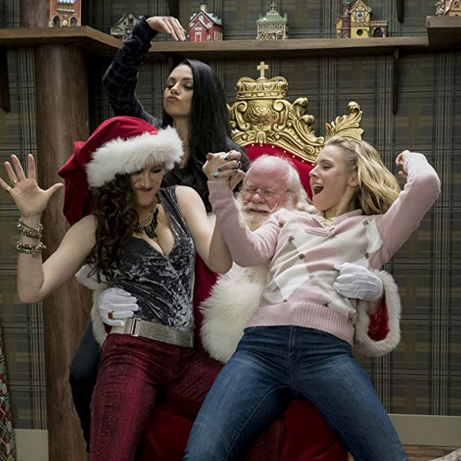 Mila Kunis, Kristen Bell, Kathryn Hahn, and Phil Pierce in A Bad Moms Christmas (2017)