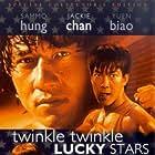 Jackie Chan, Sammo Kam-Bo Hung, and Biao Yuen in Xia ri fu xing (1985)