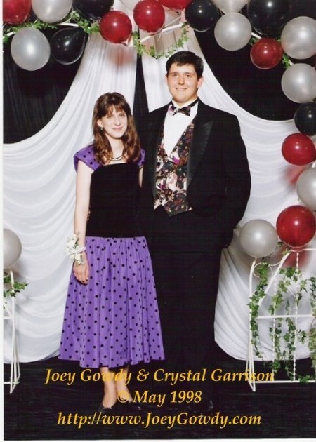 Joey Gowdy & Crystal Garrison in 1998 at the Hickory Flat Junior Prom.