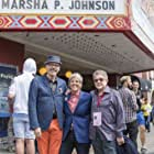 David France, L.A. Teodosio, and Joy A. Tomchin at an event for The Death and Life of Marsha P. Johnson (2017)
