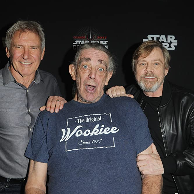 Harrison Ford, Mark Hamill, and Peter Mayhew at an event for Star Wars: The Last Jedi (2017)