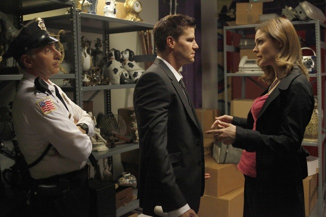 David Boreanaz, Dan Castellaneta, and Emily Deschanel in Bones (2005)