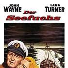 John Wayne and Lana Turner in The Sea Chase (1955)