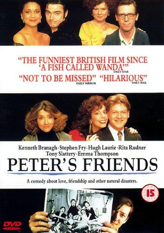 Kenneth Branagh, Stephen Fry, Emma Thompson, Imelda Staunton, Alphonsia Emmanuel, Hugh Laurie, Rita Rudner, and Tony Slattery in Peter's Friends (1992)