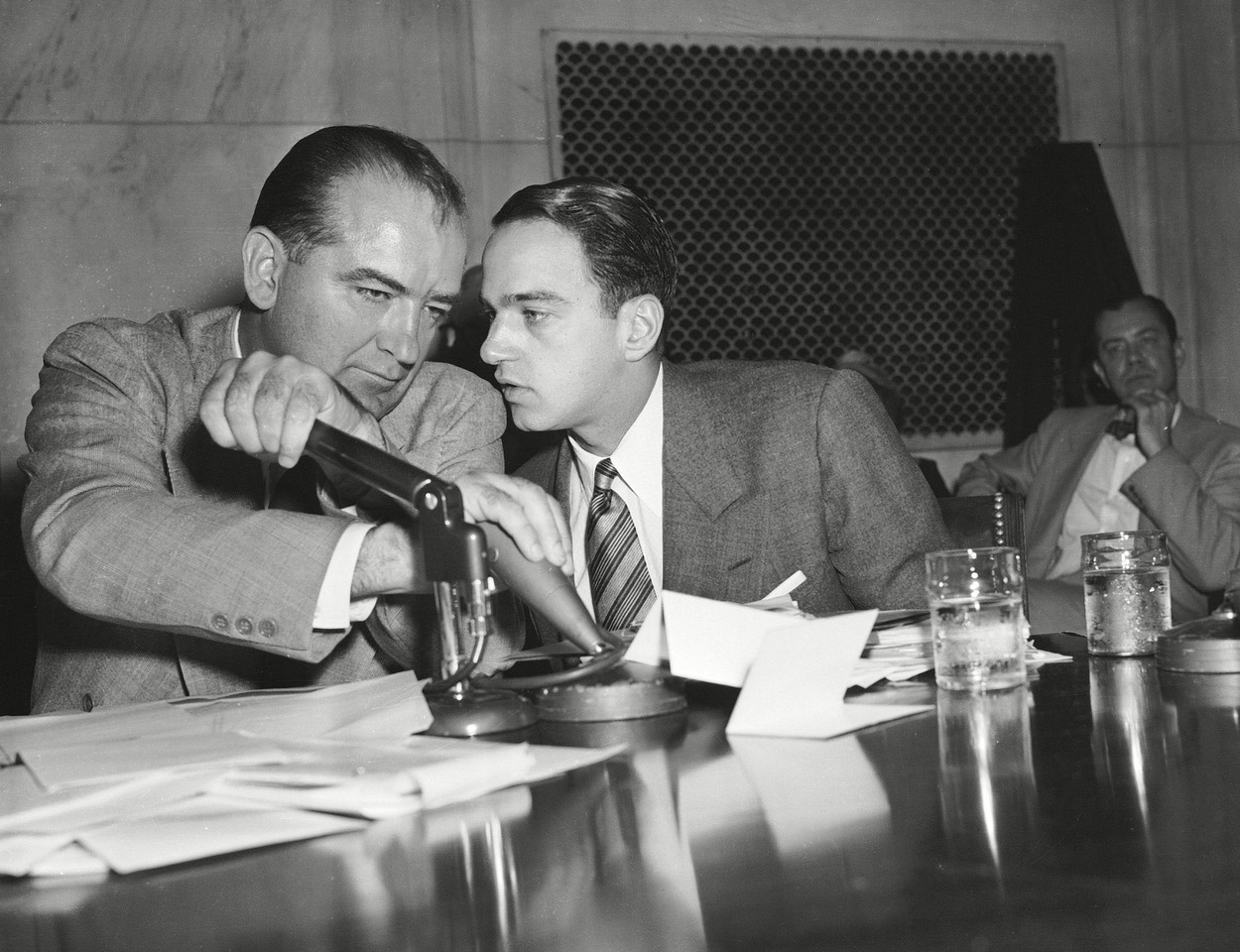 Roy M. Cohn and Joseph McCarthy in Where's My Roy Cohn? (2019)