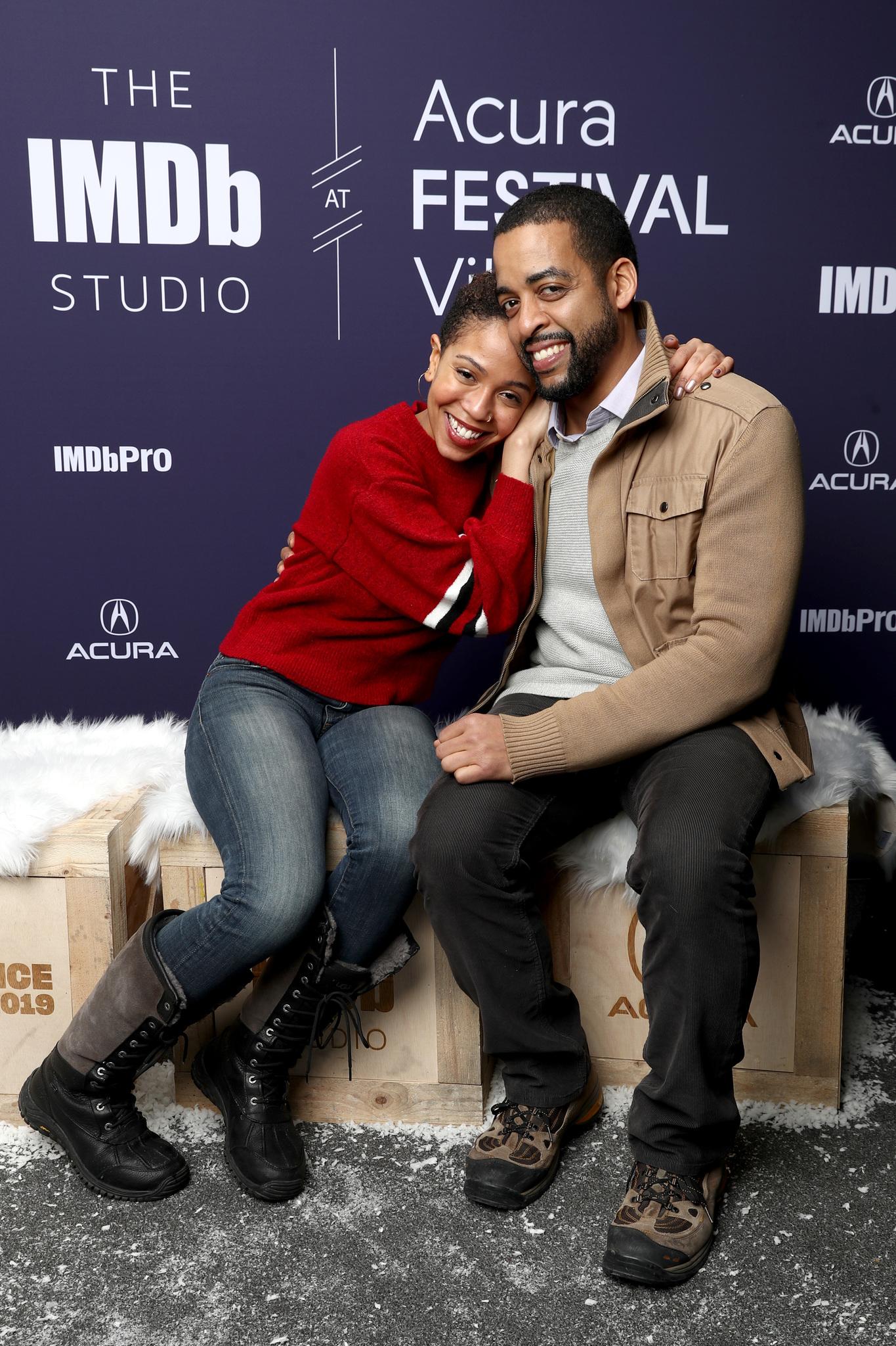 Rashaad Ernesto Green and Zora Howard at an event for The IMDb Studio at Sundance (2015)