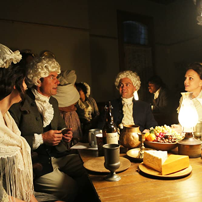 Jerry O'Connell, Joe Lo Truglio, and Jayma Mays in Drunk History (2013)