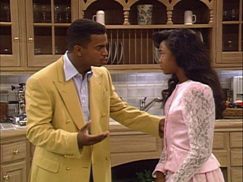 Tatyana Ali and Alfonso Ribeiro in The Fresh Prince of Bel-Air (1990)