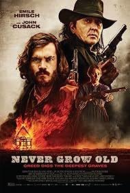 John Cusack, Emile Hirsch, and Déborah François in Never Grow Old (2019)