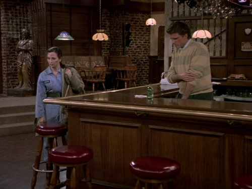 Ted Danson and Bebe Neuwirth in Cheers 1982