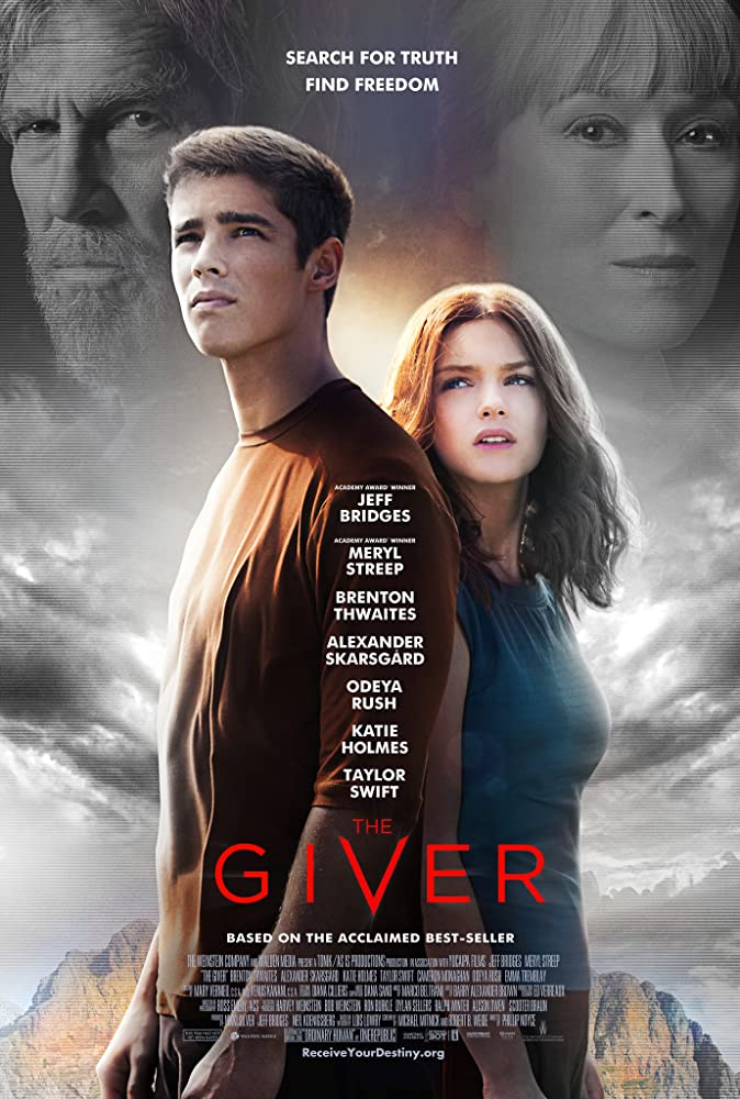 Jeff Bridges, Meryl Streep, Odeya Rush, and Brenton Thwaites in The Giver (2014)
