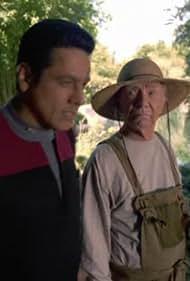 Robert Beltran and Ray Walston in Star Trek: Voyager (1995)