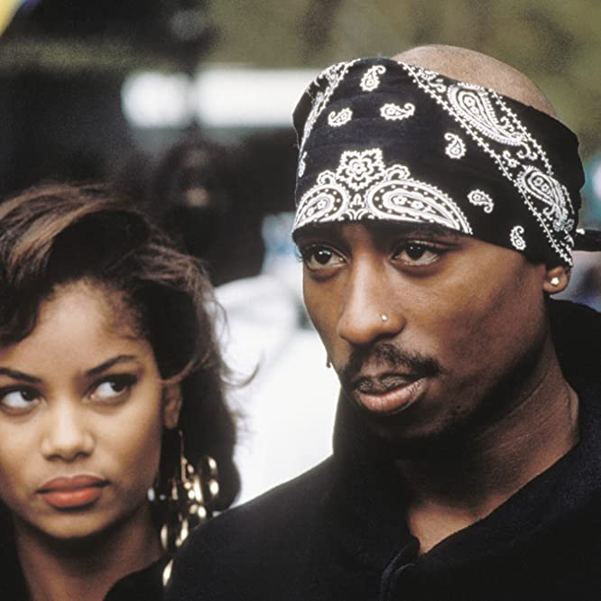 Tupac Shakur and Tonya Pinkins in Above the Rim (1994)