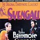 John Barrymore, Bramwell Fletcher, and Marian Marsh in Svengali (1931)