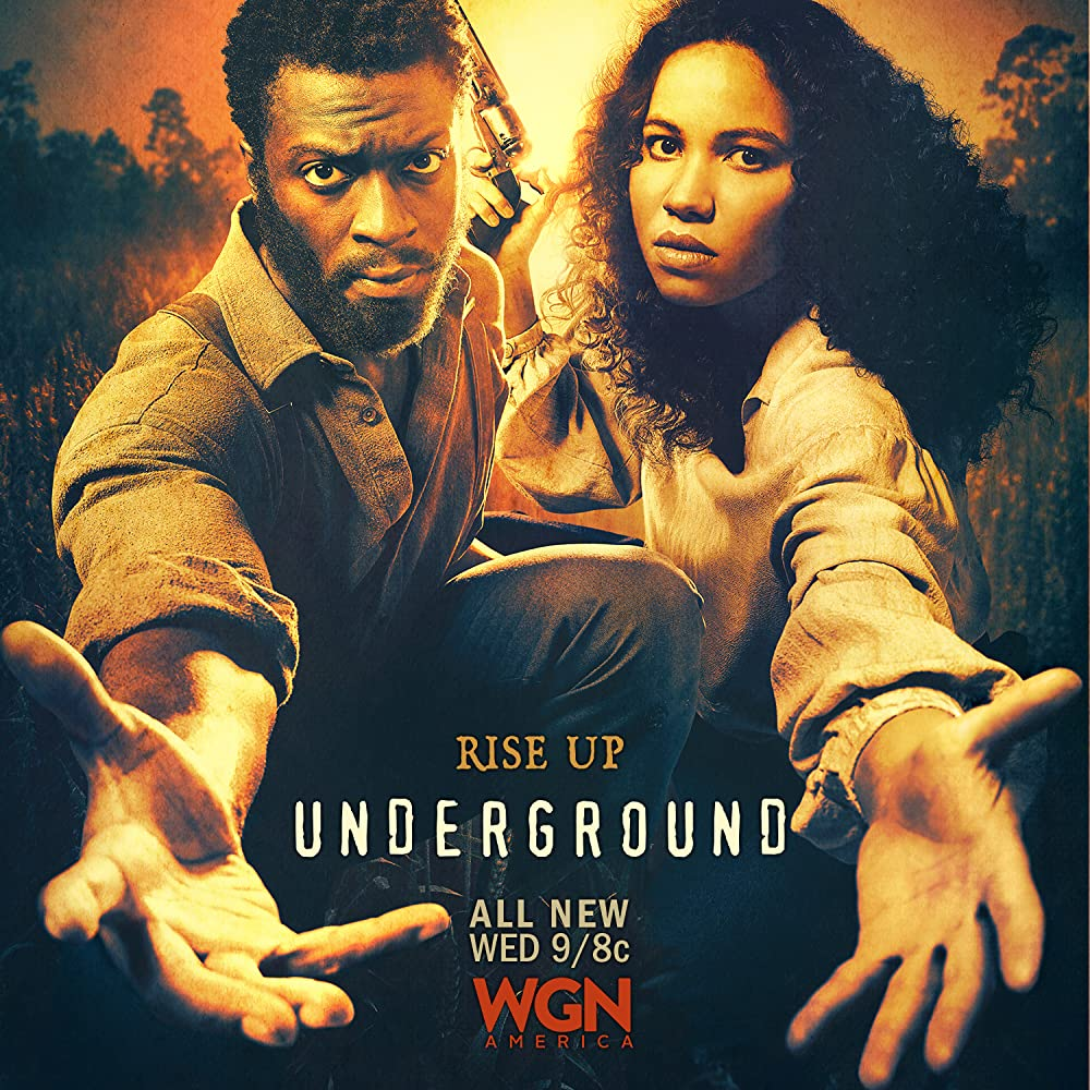 Aldis Hodge and Jurnee Smollett-Bell in Underground (2016)