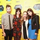 Bridey Elliott, Clare McNulty, Sarah-Violet Bliss, and Charles Rogers at an event for Fort Tilden (2014)