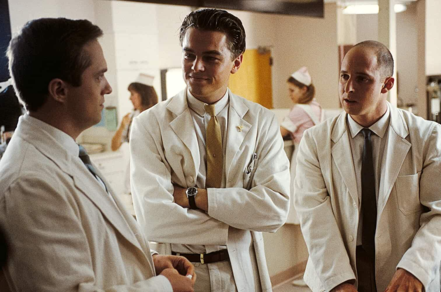 Leonardo DiCaprio, Jonathan Brent, and Shane Edelman in Catch Me If You Can (2002)