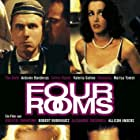 Antonio Banderas, Madonna, Valeria Golino, Tim Roth, and Jennifer Beals in Four Rooms (1995)