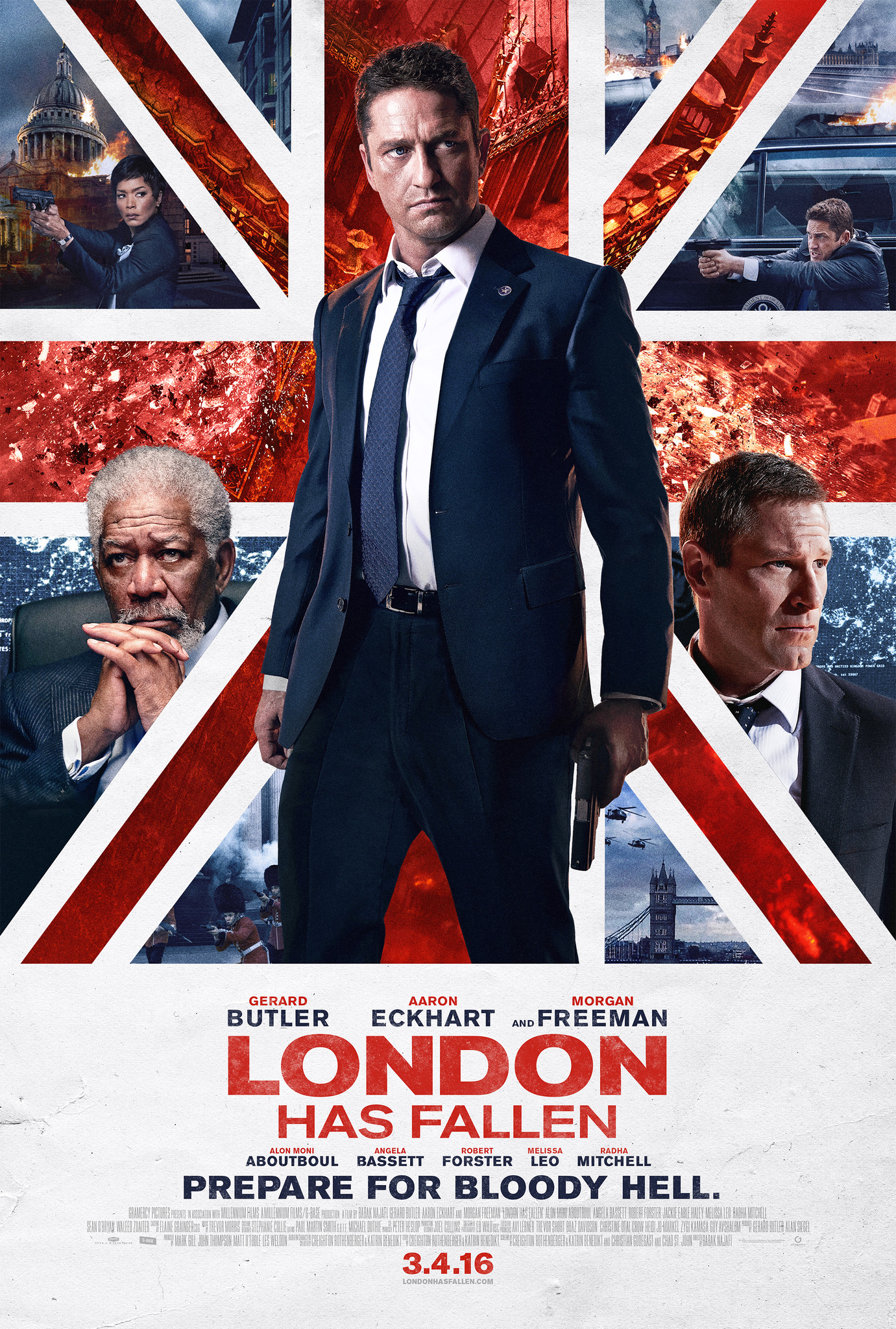London Has Fallen 2016 Hindi Dual Audio 350MB BluRay ESubs Download