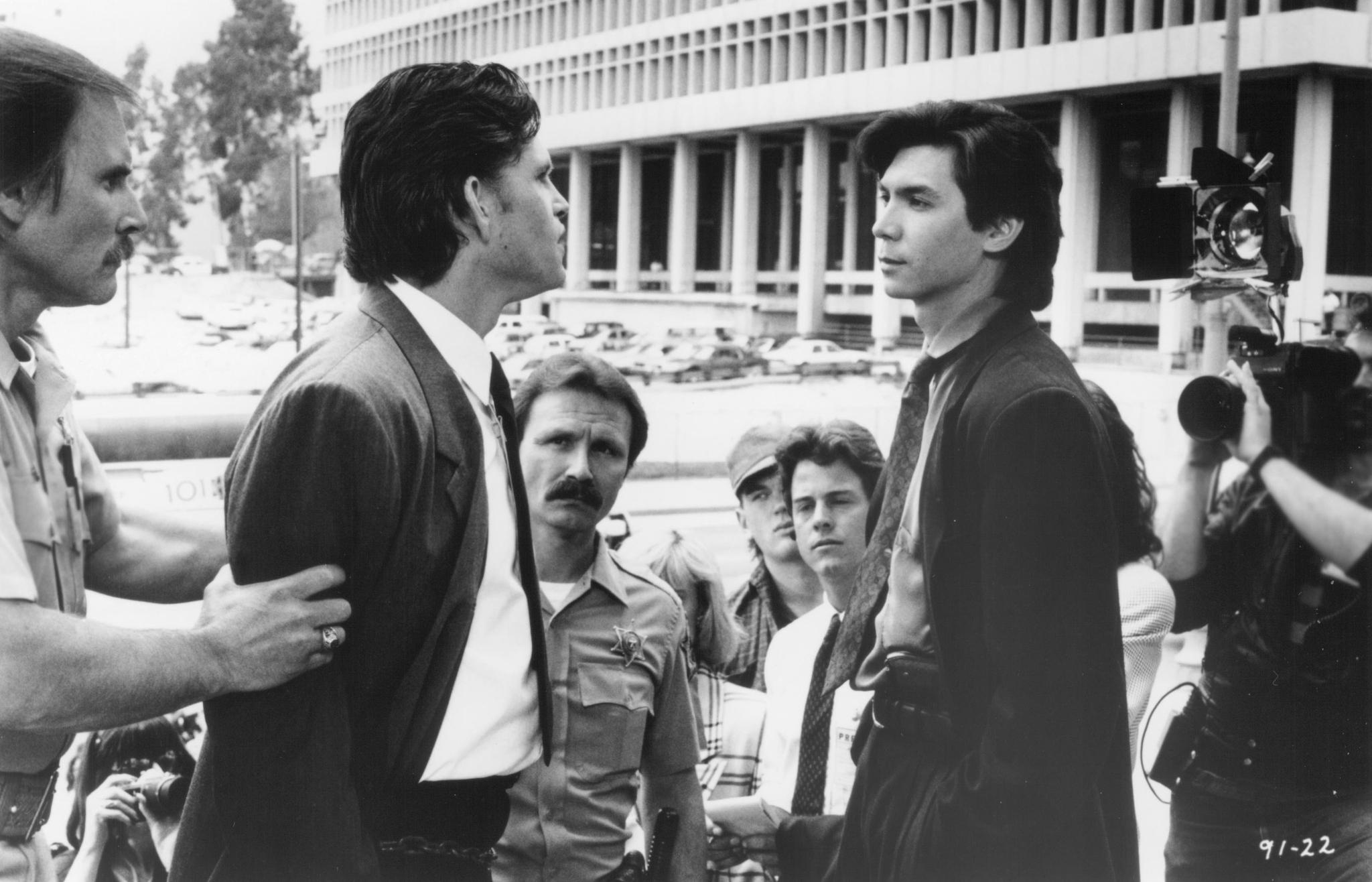 Lou Diamond Phillips, Elizabeth Arlen, Jeff Kober, and Mykelti Williamson in The First Power (1990)