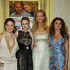 Joan Allen, Keri Russell, Erika Christensen, and Evan Rachel Wood at an event for The Upside of Anger (2005)