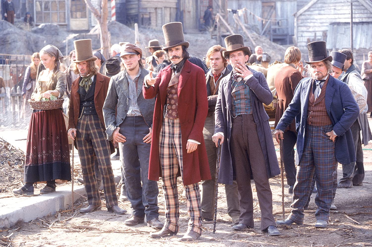 Leonardo DiCaprio, Daniel Day-Lewis, Liam Carney, David McBlain, and Gary McCormack in Gangs of New York (2002)