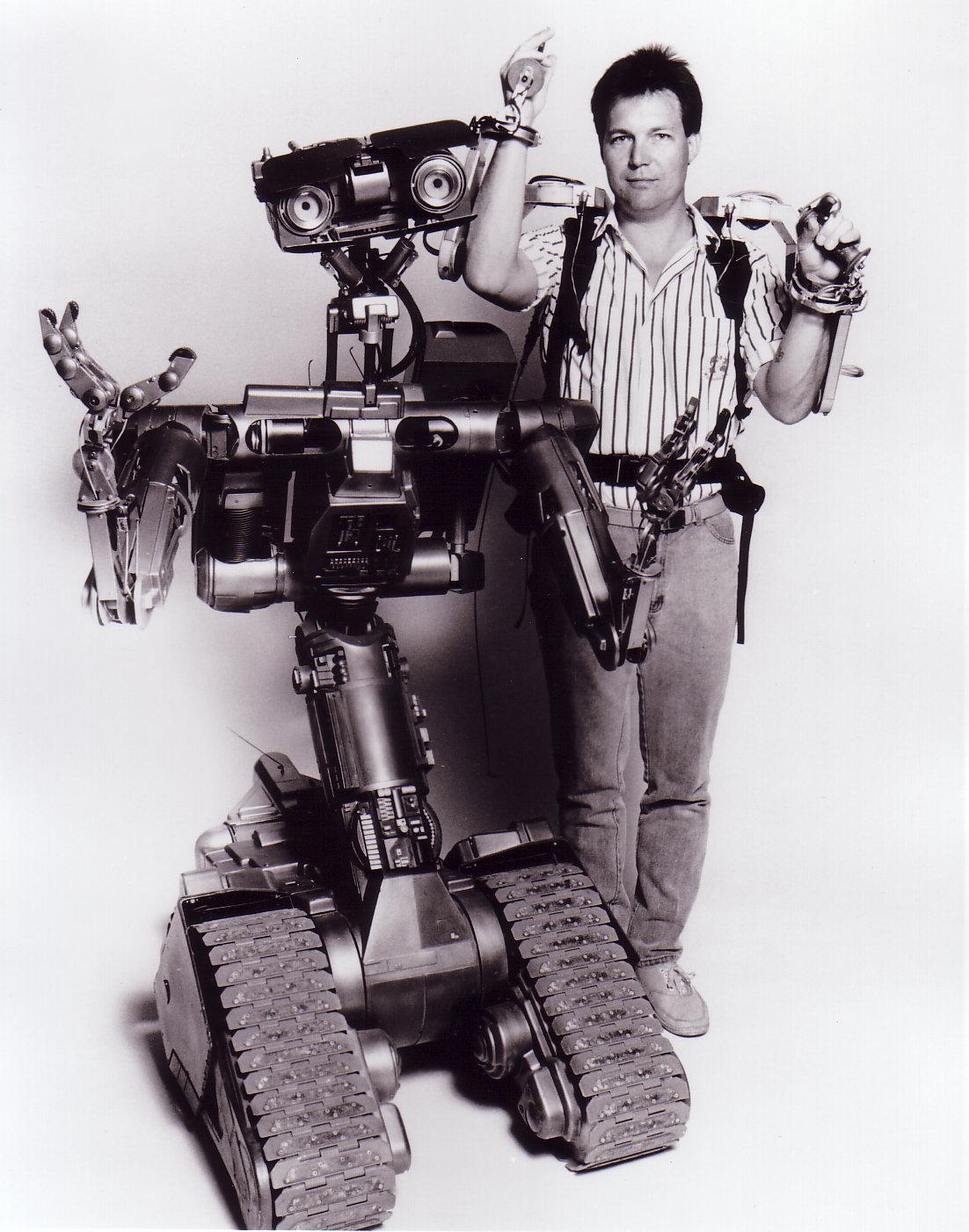Eric Allard and Johnny Five, 1987