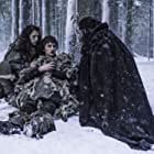 Joseph Mawle, Ellie Kendrick, and Isaac Hempstead Wright in Game of Thrones (2011)