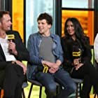 Salma Hayek, Alexander Skarsgård, Jesse Eisenberg, and Michael Mando at an event for The Hummingbird Project (2018)