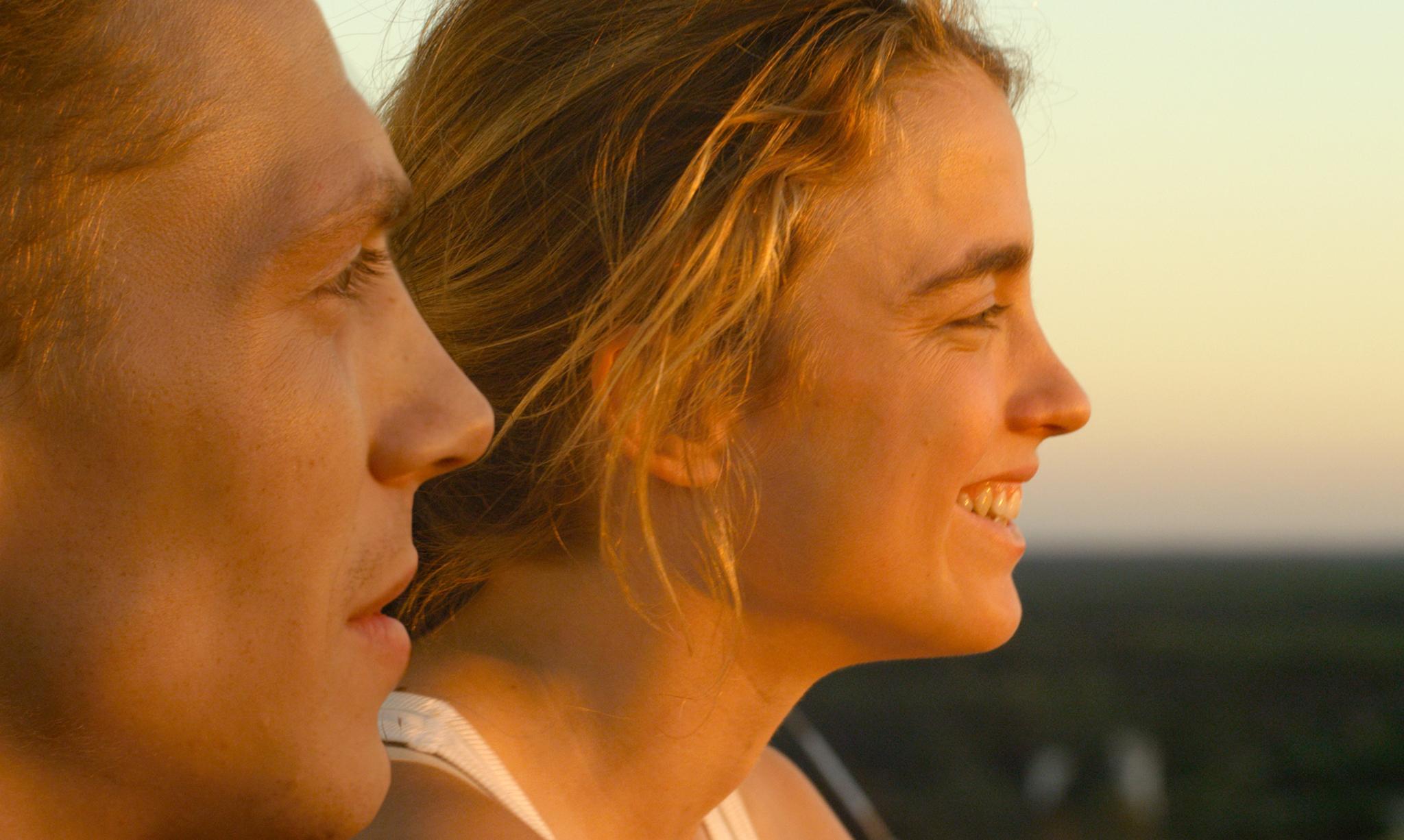Adèle Haenel and Kévin Azaïs in Les combattants (2014)