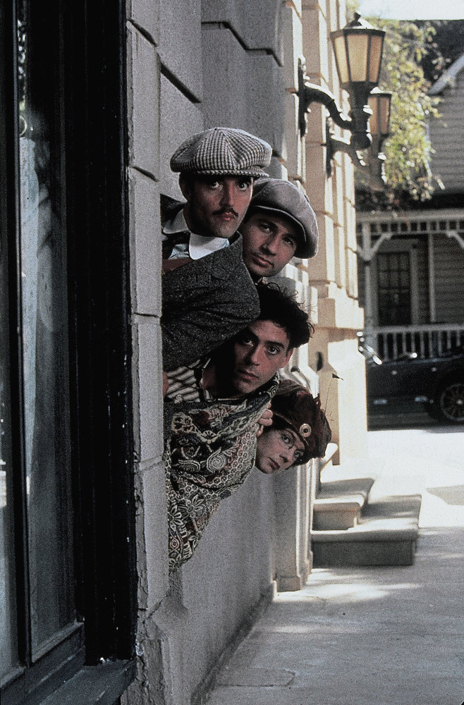 David Duchovny, Robert Downey Jr., Francesca Buller, and Paul Rhys in Chaplin (1992)