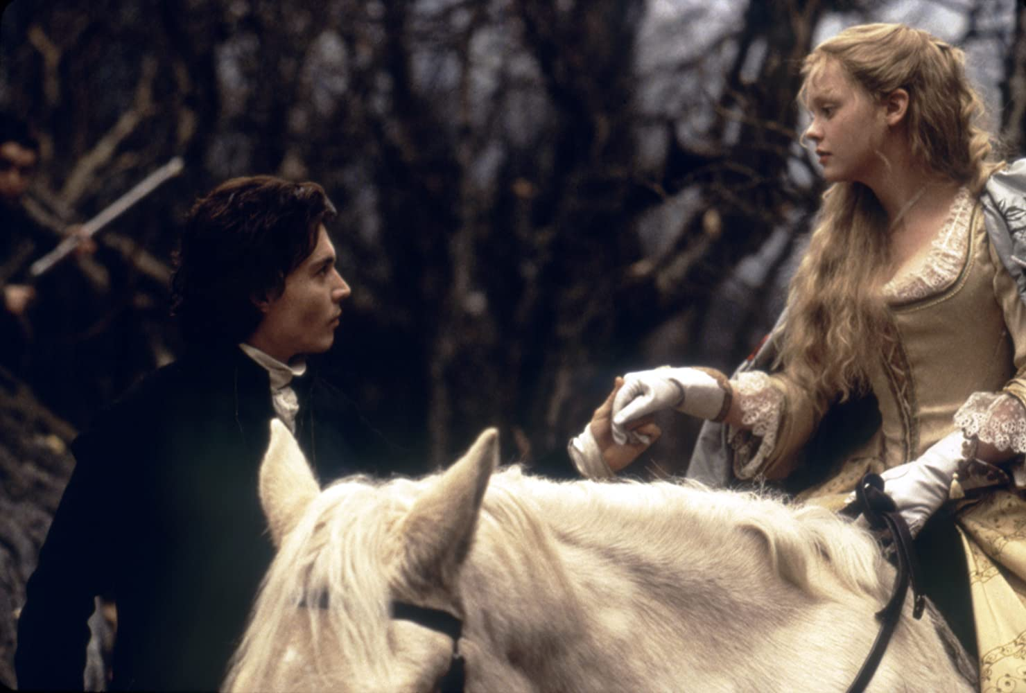 Johnny Depp and Christina Ricci in Sleepy Hollow (1999)
