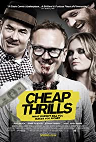 Ethan Embry, Pat Healy, David Koechner, and Sara Paxton in Cheap Thrills (2013)