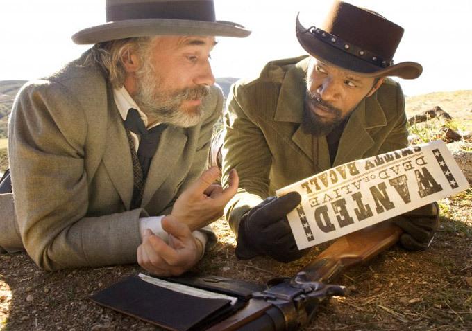 Jamie Foxx and Christoph Waltz in Django Unchained (2012)