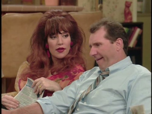 Katey Sagal and Ed ONeill in Married with Children 1986
