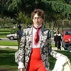 Bennett Schneider (Edward Bunte/The Fashionista) arrives on the Outta Sync set.