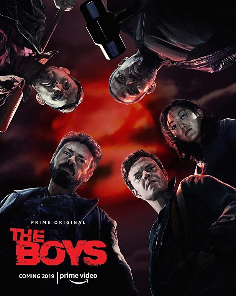 Laz Alonso, Karl Urban, Jack Quaid, Tomer Capon, and Karen Fukuhara in The Boys (2019)