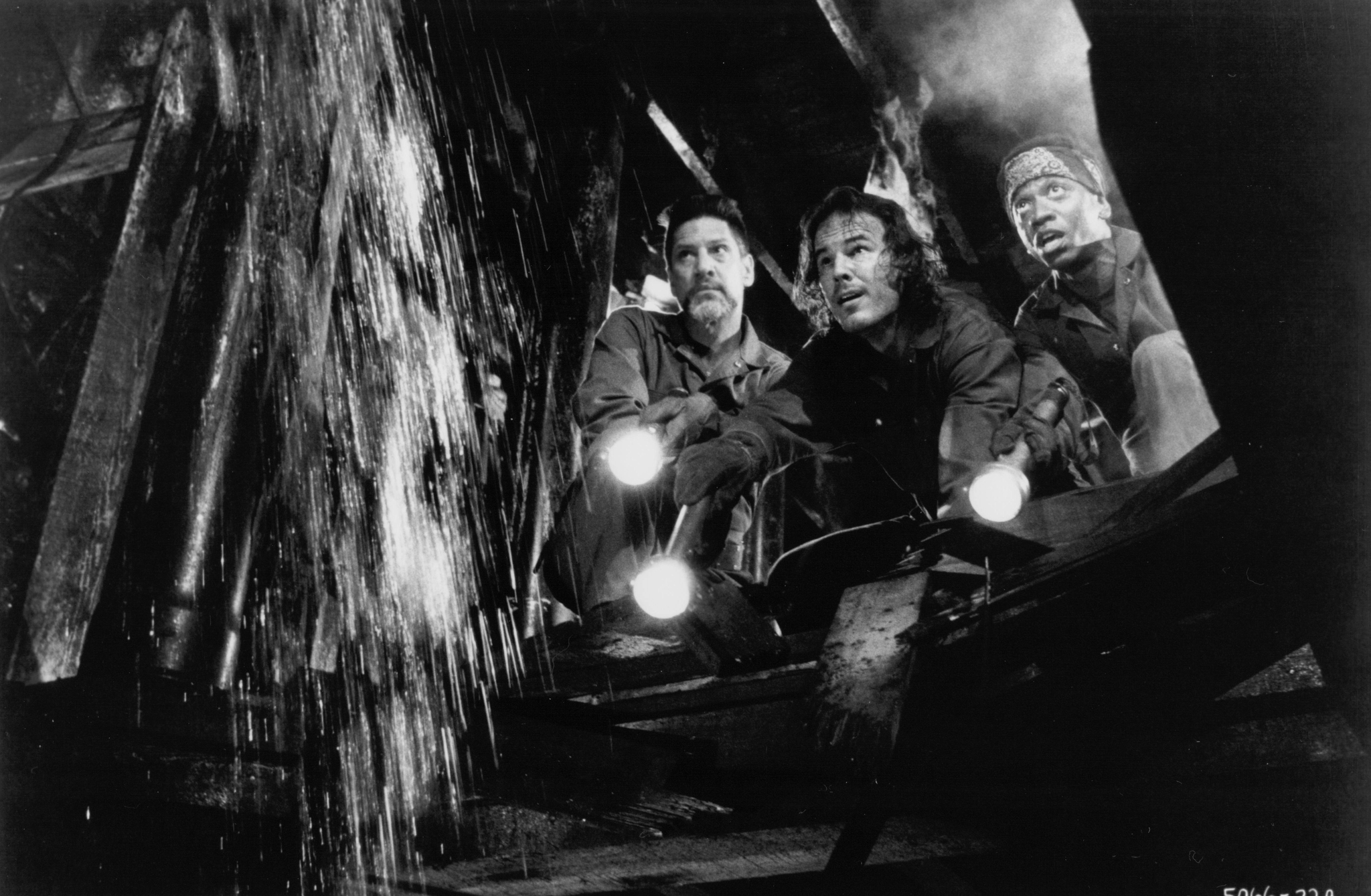 Andrew Divoff, Stephen Macht, and Jimmy Woodard in Graveyard Shift (1990)