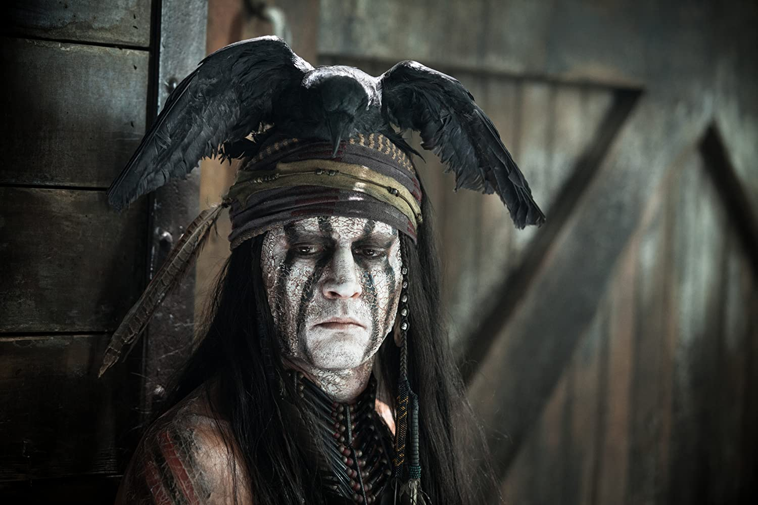 Johnny Depp in The Lone Ranger 2013