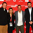 Sara Bernstein, Sebastian Junger, Nick Quested, and James Brabazon at an event for Which Way Is the Front Line from Here? The Life and Time of Tim Hetherington (2013)