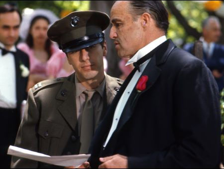 """The Godfather"" Marlon Brando, Al Pacino 1971 Paramount"