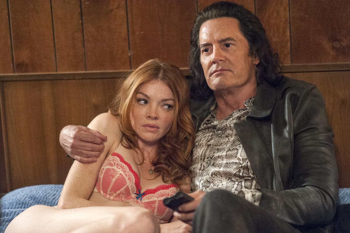 Kyle MacLachlan and Nicole LaLiberte in Twin Peaks (2017)
