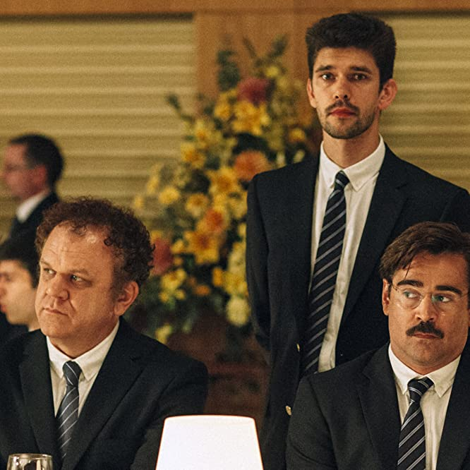 John C. Reilly, Colin Farrell, and Ben Whishaw in The Lobster (2015)