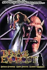 Michael Berryman and Brinke Stevens in Teenage Exorcist (1991)