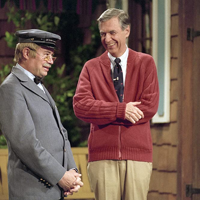 David Newell and Fred Rogers in Mister Rogers' Neighborhood (1968)